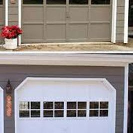 residential garage door before and after